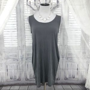 Eileen Fisher Gray Sleeveless Tunic Silk Small